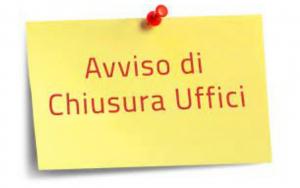 Chiusura temporanea uffici al pubblico